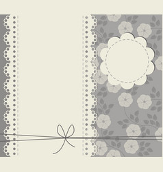 greeting card with copy space stylish flowers vector image