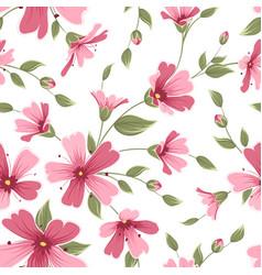 Gypsophila babys breath flower pattern pink red vector