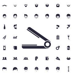 Hair straightener icon vector