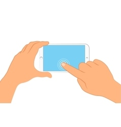 Hand holding smartphone Sign in page on phone vector image
