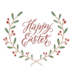 happy easter decorative template vector image