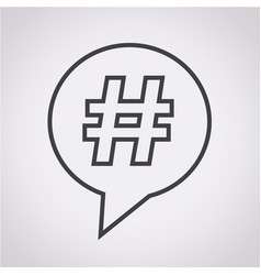 hashtag speech bubble icon vector image