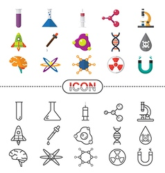Icon Science and Chemical vector