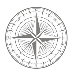 icon with compass rose vector image