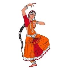 Indian Bollywood girl vector