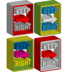 Keep right vector image