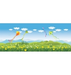 Kites in the sky vector