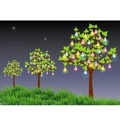 Light trees vector