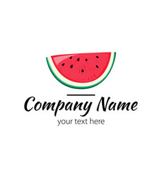 Logo with watermelon simple sign vector