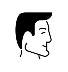 man head - human head - good businessman profile vector image