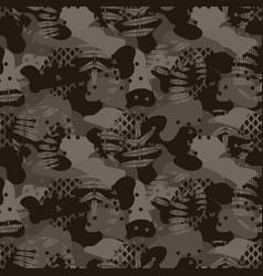 Military camouflage seamless army brown hunting vector