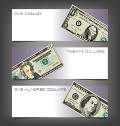 Money Dollar Banners vector image