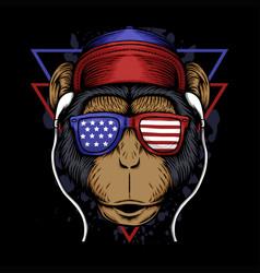 monkey america vector image
