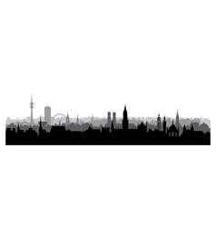 munich city germany landmark buildings skyline vector image