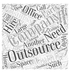 outsourcing Word Cloud Concept vector image
