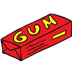 Pack of gum vector