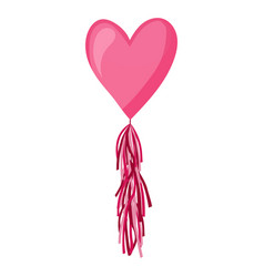 Pink heart balloon on background frosted party vector