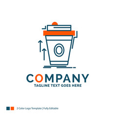 Product promo coffee cup brand marketing logo vector