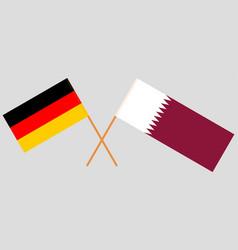 Qatar and germany the qatari and german flags vector
