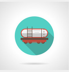 railway barrel blue round icon vector image