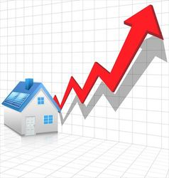 Real estate price rising concept vector image