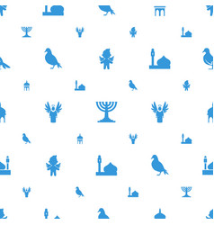 religious icons pattern seamless white background vector image