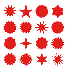 retro stars sunburst symbols vintage sunbeam vector image