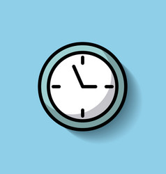 round clock time hour timer vector image