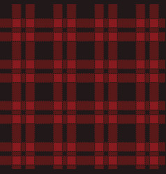 Seamless pattern of red tartan vector