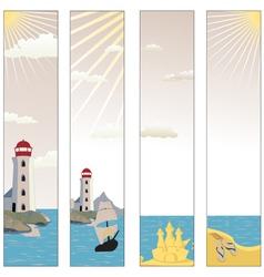 Seaside banners set vector