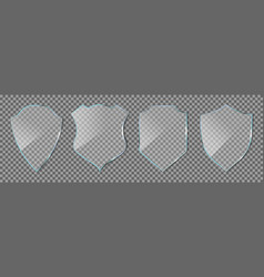 shield glass glass icon guard isolated vector image