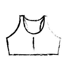 shirt female gym wear vector image