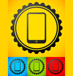 smartphone with gears - mobile development repair vector image