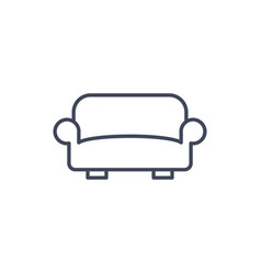 sofa line icon pictograph outline home lounge vector image