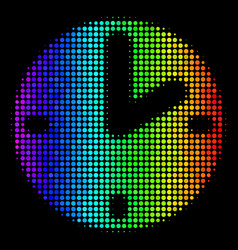 Spectral colored dot clock icon vector