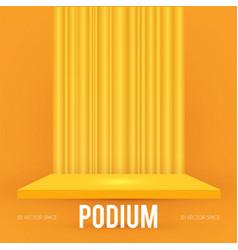 Square podium scene pedestal and 3d platform vector