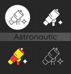 Telescope dark theme icon vector