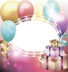 Template for invitation birthday card vector