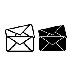 two envelope line and glyph icon letters vector image