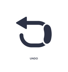 Undo icon on white background simple element from vector