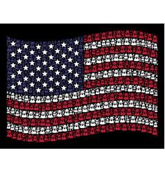 Waving united states flag stylization of spy vector