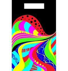 AbstractionInAcidColors vector image vector image