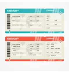Airplane tickets vector