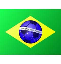 Brasil brazil football flag vector