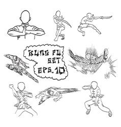 gungfu icon set vector image