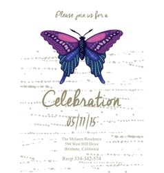 Invitation card for wedding birthday and holiday vector image