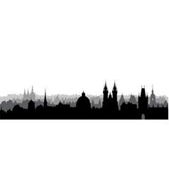 prague city czech skyline view cityscape with vector image