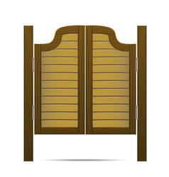 wooden brown gate or door in saloon bar or pub vector image