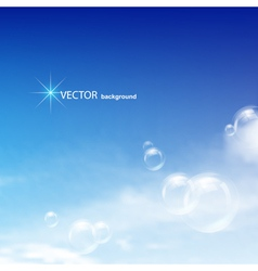 blue sky bubbles vector image