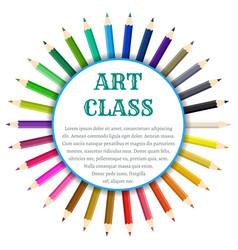 color pencils circle banner vector image